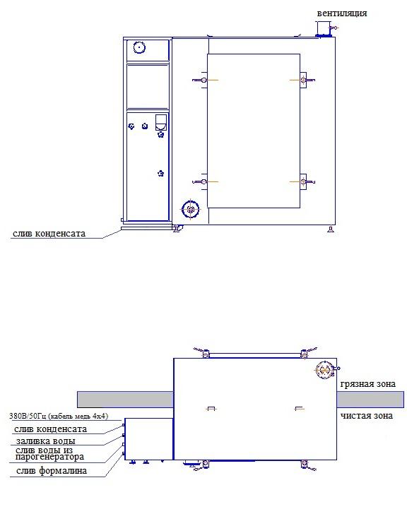 Схема установки ВФЭ-1,5/1,0